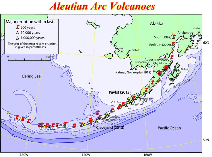 Alaska Map Volcano.Alaska Volcano Map Bnhspine Com