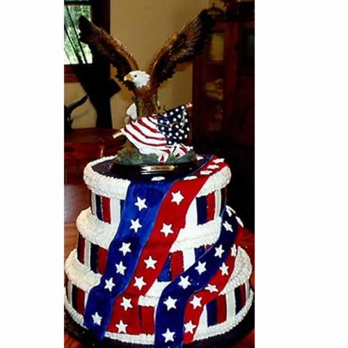 American Patriot Birthday Cake