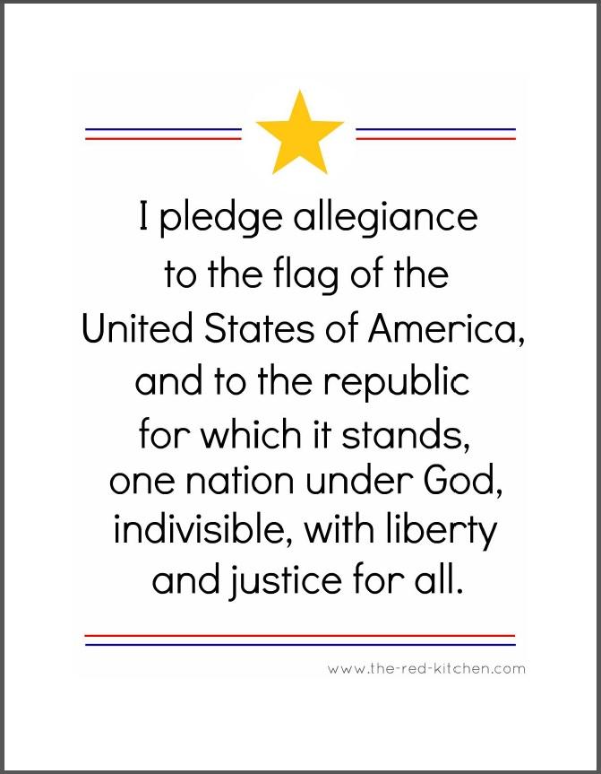 pledge of allegiance worksheet