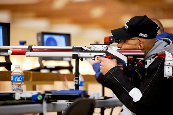 12 0719 SharpShooter ... air rifle portion of the shooting competition in the 2012 Warrior Games ...